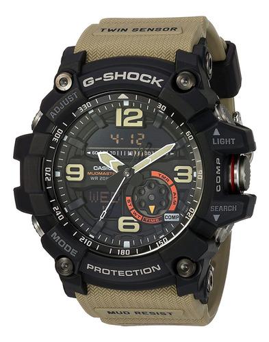 Imagen 1 de 4 de Reloj Analógico / Digital Casio Gg1000-1a5, 56.2mm, Beige