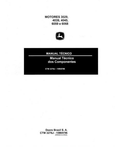 Manual De Serviço Motores Tratores Jd
