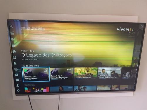 Tv Philco  Ptv49f68dsw N 4k Funcionando Com Tela Quebrada.