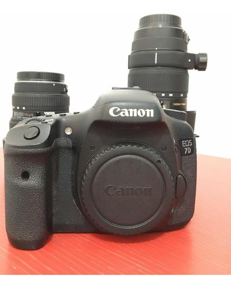 Câmera Canon 7d + Lentes Sigma.