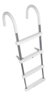 Escalera Nàutica Aluminio Para Colgar 4 Escalones Plásticos