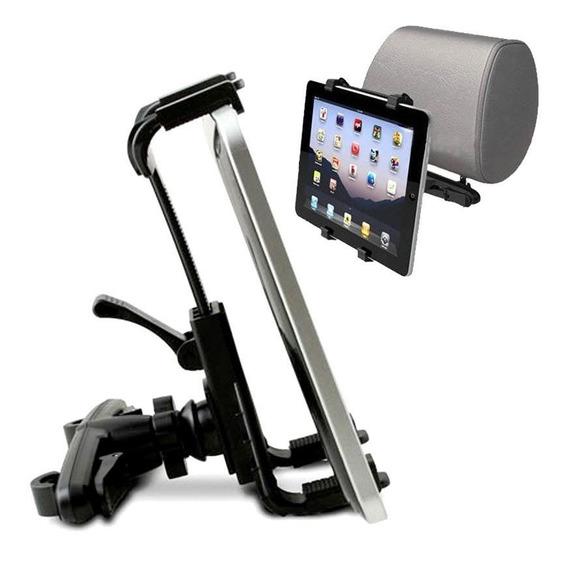 Suporte Tablet E iPad Uso Encosto Banco Veículo 7 A 10 Polegadas Sendo Que 7 É Necessário Usar Capa Para Melhor Fixação