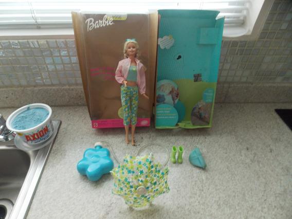 Juguete Niña: Barbie Muñeca Lluvia O Sol Original Usada