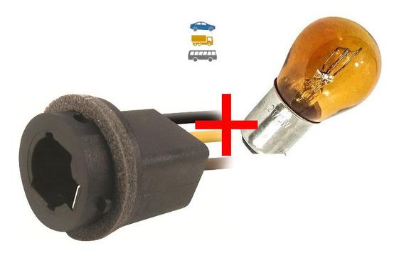 Par Soquete Pisca 2 Polos C/ Chicote Com Lampada Amarela