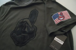 Playera Mlb Clevenland Indians Camo