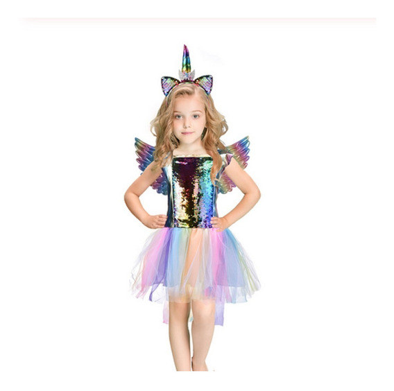 Vestido Unicornio Lindo Fantasia Infantil + Brinde