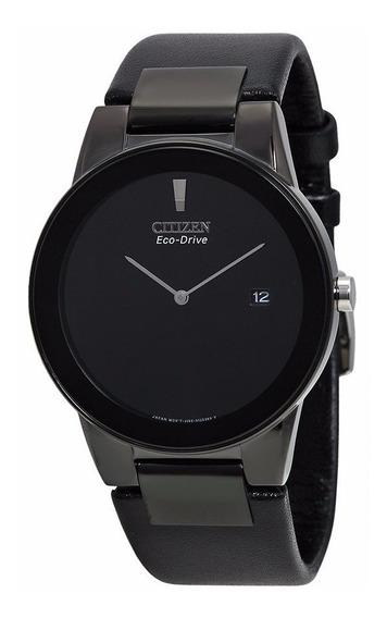 Reloj Citizen Eco-drive Axiom Negro Piel Negra Au1065-07e