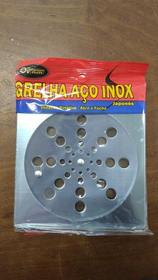 Grelha Inox Rotativa Quadrada 15x15 Cm S/ Caixilho