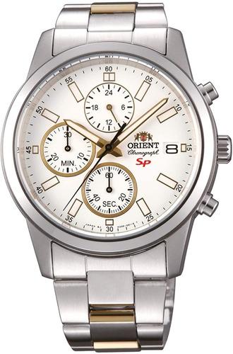 Reloj Orient Acero Caballero Fku00001w0 Bicolor 100%original