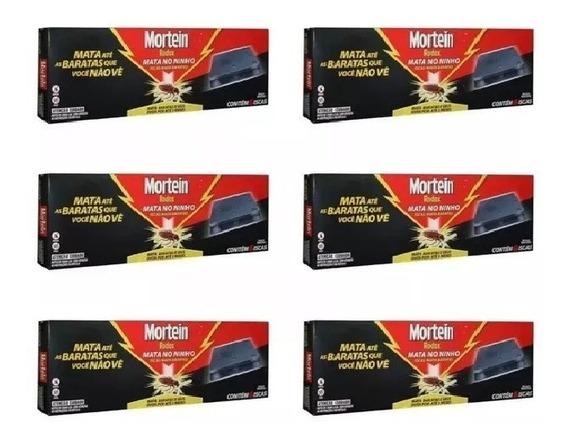 Kit Com 6 Caixas De Iscas Mortein Pro Mata Baratas 6x21g