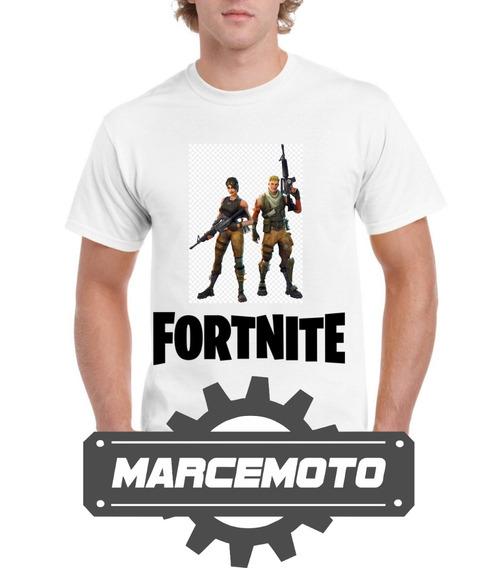 Remera Fortnite Personajes 2019 - Marcemoto