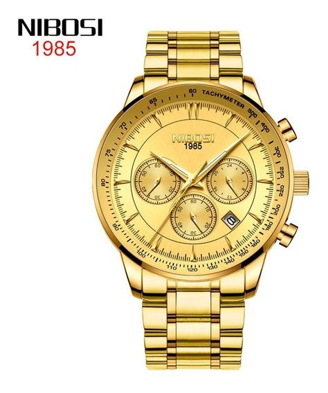 Reloj Nibosi 2351 C/cronógrafo Resistente Al Agua P/hombre