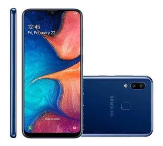 Celular Samsung A20 32gb 3gb Ram Dual - Azul