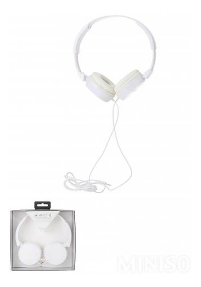 Fone De Ouvido Com Microfone Integrado H680 Branco Miniso