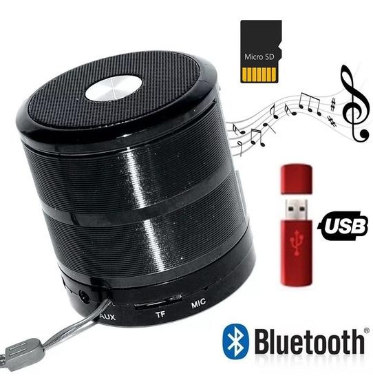 Mini Caixinha Som Portátil Bluetooth Mp3 Fm Sd Usb Aux