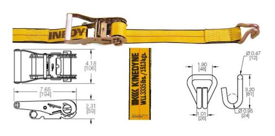 Pack 4unid Suncho Crique Tensor Traca Traka 50mm X 9metros
