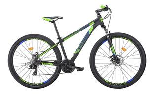 Bicicleta Trinx Mtb M100 Pro Aro 29 Verde E Azul Shimano Tourney E Freio Mecânico
