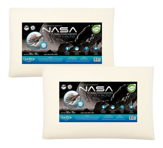 Kit 2 Travesseiros Nasa-x Alto Viscoelástico - Duoflex
