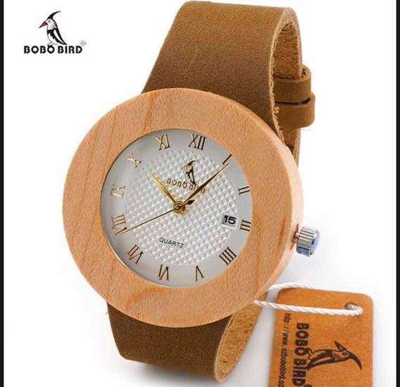 Relógio Feminino Bambu Madeira Bobo Bird Promoção