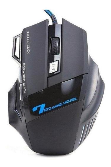 Mouse Para Jogo Gamer X7 Preto E Prata 7 Botões Óptico Origi