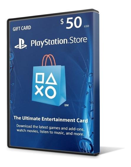 Playstation Network Card $50 Dolares - Cartão Psn Americana