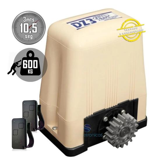 Kit Motor Deslizante Portao Eletrônico Rossi Dz3 Sk Turbo