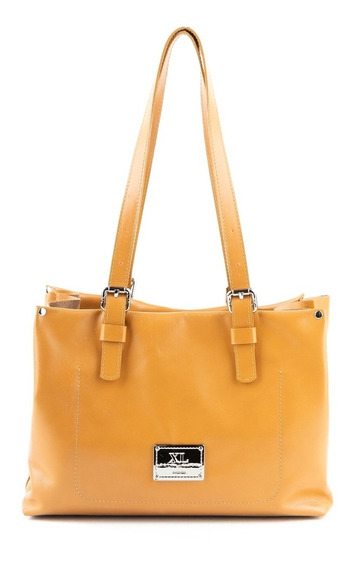 Cartera Mediana Mujer Xl Extra Large Connie Camel