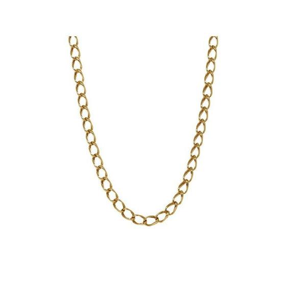 Cordão Masculino Groumet Ouro 18k - Código 13789
