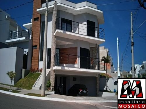 Imagem 1 de 28 de Linda Casa Em Condomínio, Permuta Apartamento, 05 Vagas De Garagem, 03 Suites, Lazer - 23215 - 69352390