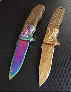 1 Canivete Tático Browning Águia C/madeira-fade/gold -c/nfe