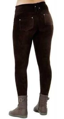 Calça Feminina Veludo Cotele C/bolso Coz Alto Leg Promoção