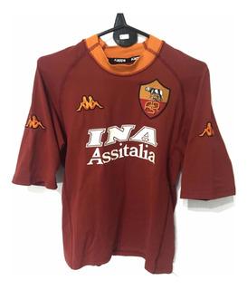 Camiseta La Roma - Talle S - 18 Batistuta - Fútbol Italia