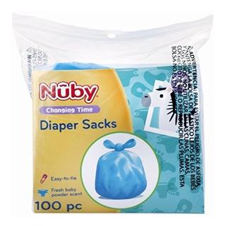 Nuby 100 Piezas Desechables Pañales Sacosbolsas Con Aroma D