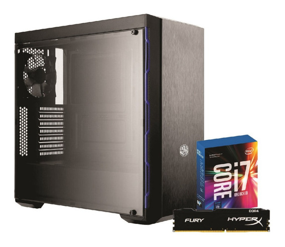 Pc Mb600l I7 7700k Z270m Plus 8gb Fury Ssd240 Wc240mm Tt500