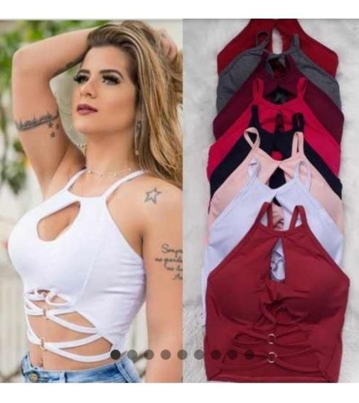 Lote 6 Cropped Top Blusa Curta Atacado Revenda Top Sortidos