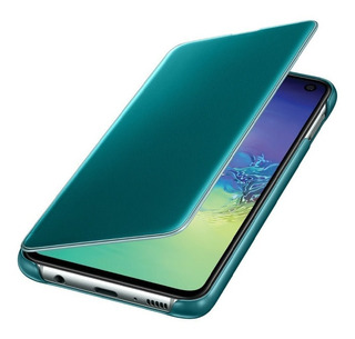 Funda Samsung Clear View Cover- S10e Green
