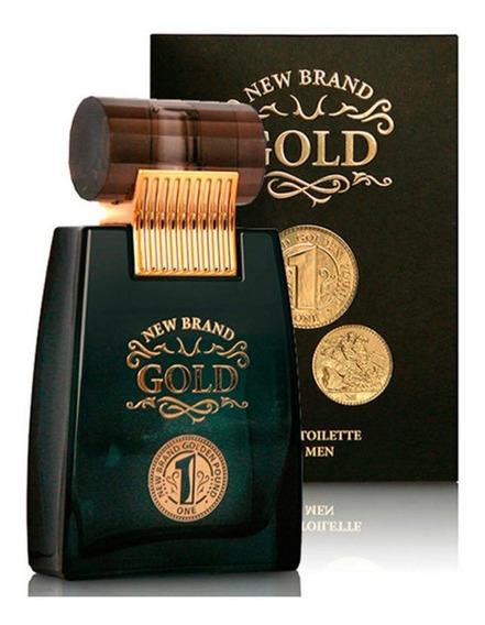 Perfume New Brand Gold Masculino 100 Ml