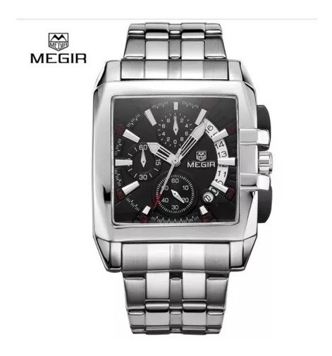 Relogio Megir Cronografo - Modelo Ms 2018 G - Black