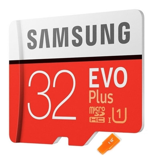Cartão Micro Sd Samsung 32gb Evo Plus 95mb/s + Adaptador Usb