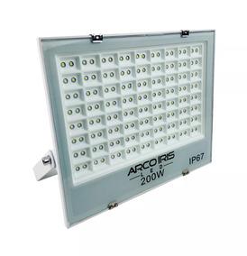 8 Refletores 200w Microled Slim Bivolt Branco Frio