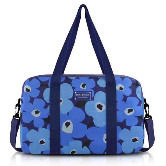 Bolsa De Bordo Papoula Jacki Design Azul