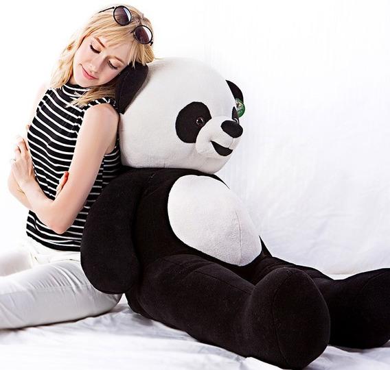 Urso Panda Grande Pelúcia Gigante 1,20 Metro 120 Cm Já Cheio