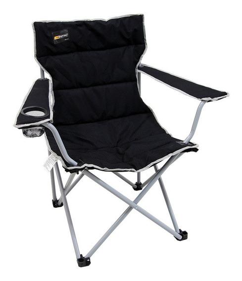 Cadeira Praia Nautika Dobrável Boni Com Porta Copo Preto