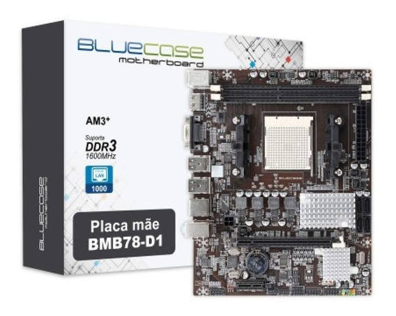 Placa-mãe Bluecase Bmb78-d1 Amd Am3/am3+ Fx-x3xx Gigabit New