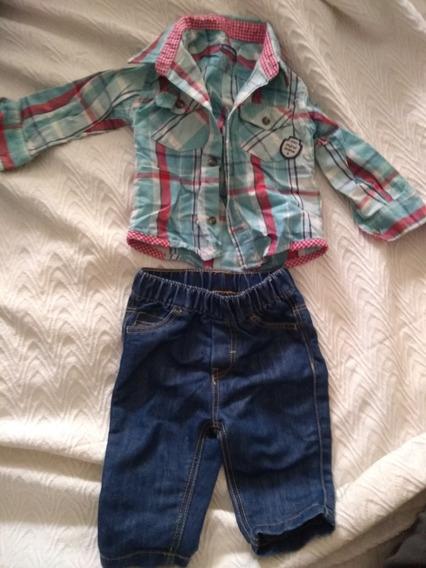 Camisa+ Pantalón Jean 6 Meses