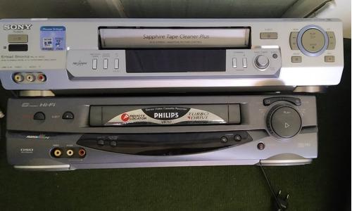 Lote Dos Reproductores De Vhs Video A Reparar Sony Y Philips