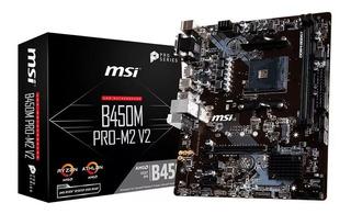 Msi Motherboard B450m Pro-m2 V2 Ddr4 Am4