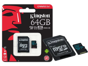 Cartao De Memoria Classe 10 Kingston Sdcg2 64gb Micro Sdxc 6
