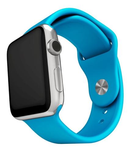 10 Pulseras Silicona Compatible Con Apple Watch Medida 42/44