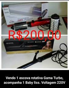 Escova Rotativa Gama Turbo 220v + Baby Liss Nks